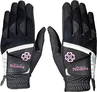 LEZAX(レザックス) レディース ゴルフグローブ Nicotera 用両手用合成皮革手袋