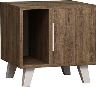 Hocuspicus - Mesita de Noche Moderna para Dormitorio, Soporte para lámpara, Mesa de café, fácil de Montar y Transparente, 45 x 50 x 50 cm