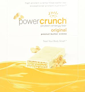 BioNutritional Power Crunch Bars Peanut Butter Creme, 16.8 Ounce (12 Count)  (480G)