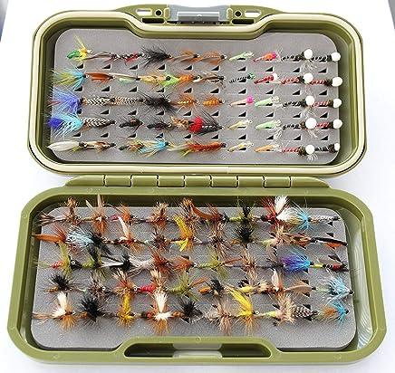 Trocknet N/ässe /& Nymphen auf Gr/ö/ßen 10 14 oder gemischte Gr/ö/ßen ARC Fliegenbox /& Widerhakenlose Forellenfliegen UK 50 und 100 in Mengen 25 12