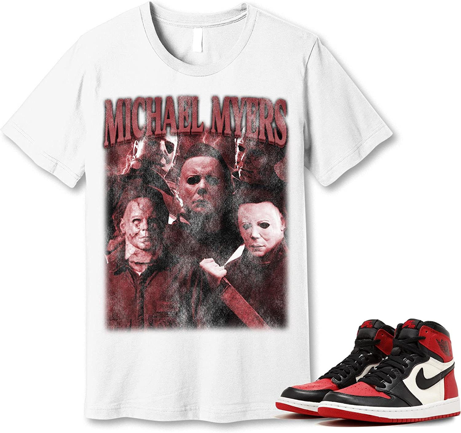 #Michael #Myer T-Shirt to Limited time sale Match Jordan Toe Sneaker Snkrs 1 At the price of surprise Bred