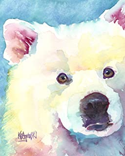 "Samoyed Art Print | Samoyed Dog Gifts | From Original Painting by Ron Krajewski | Hand Signed Artwork in 8x10"" and 11x14"" Sizes"