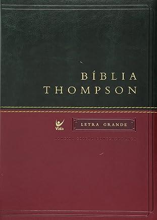 Bíblia Thompson Letra Grande. Capa Verde e Vinho