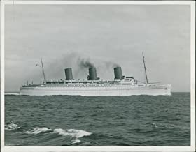 Vintage photo of The RMS Empress of Britain was an ocean liner built between 1928 and 1931 by John Brown shipyard in Scotland and owned by Canadian Pacific Steamship Company.