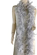 Ws&Wt 40g 5pcs Turkey Chandelle Feather Boa for Adult Women Costume Accessory,Dress up Party Favors