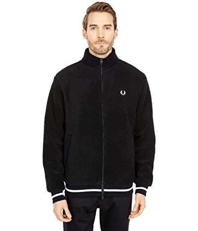 Fred Perry Borg Zip Through Fleece Jacket (Black) Men