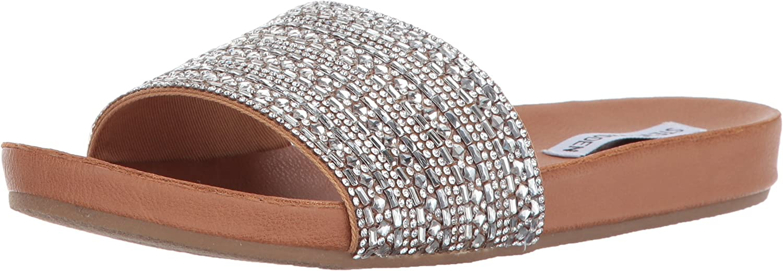 Steve Madden Womens Dazzle Flat Sandal