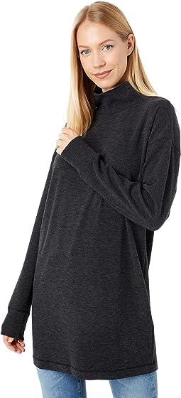 Brushed Jersey Long Sleeve Funnel Neck Sweatshirt Tunic