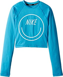 Nike Kids Long Sleeve Crop Hydroguard (Big Kids)