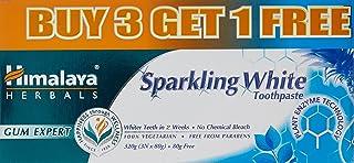 Himalaya Sparkling White Toothpaste - 80 g (Buy 3 Get 1)