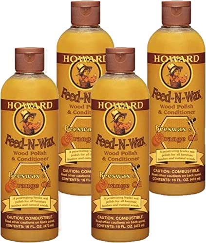 popular Howard discount Products Feed-N-Wax Wood Polish & Conditioner, Orange discount (4, 16 oz) outlet online sale