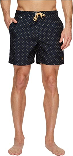 Original Penguin - Leaf Print Fixed Volley Swim Shorts