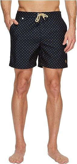 Original Penguin - Leaf Print Fixed Volley Swim Shorts
