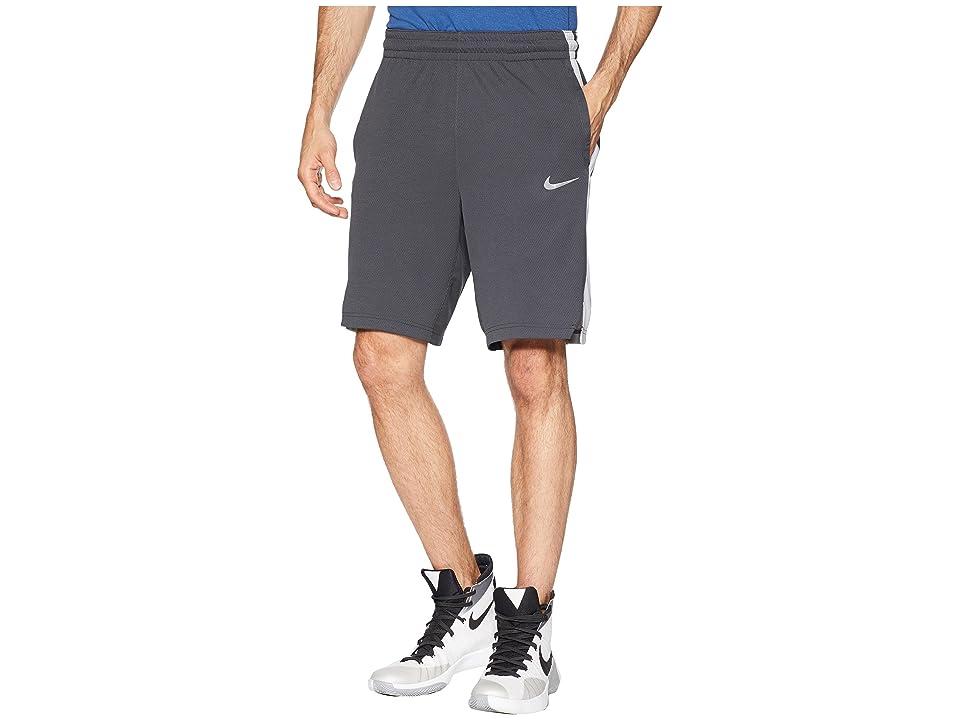 Nike Elite Stripe Basketball Short (Anthracite/Anthracite/Wolf Grey) Men