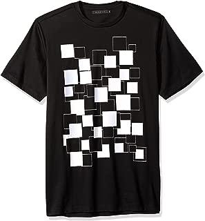 Bugatchi Men's Slimt Fit Mercerized Cotton Printed Crew Neck Shirt
