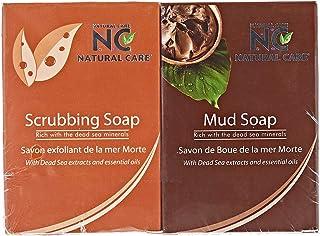 Natural Care Mud Soap & Scrubbing Soap With Dead Sea Minerals & Essential Oils - Aqua Fresh, 200 gm