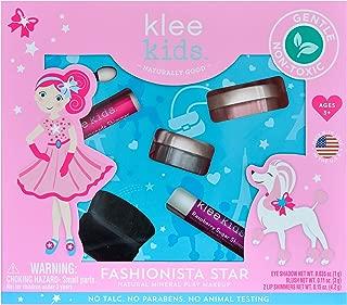 Luna Star Naturals Klee Kids Natural Mineral Makeup 4 Piece Kit (Fashionista Star)