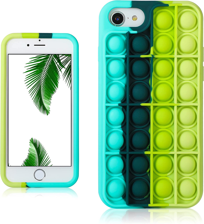 JoySolar Black Green for iPhone 6 Plus/6S Plus/7 Plus/8 Plus Case Silicone CaseDesign Funny Cute Unique Fidget Aesthetic Cover Cases for Boys Girls Youth(for iPhone 6/6S/7/8 Plus 5.5