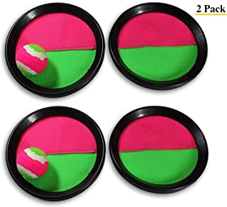 Paddle Catch Toss and Catch Ball Game Set! Throw Catch Bat Ball Game (2 Pack)  for Kids and Children