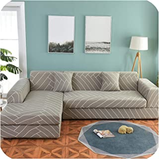 1/2 Pieces Sofa Cover Set Geometric Couch Cover Elastic Sofa Cover for Living Room Pets Corner L Shaped Chaise Longue Sofa Cover,Color 16,1-seat 90-140cm