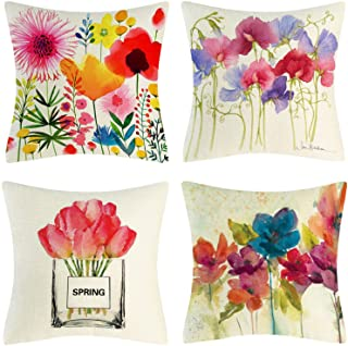 CHICHIC Spring Throw Pillow Covers 18x18 Inch, Set of 4, Throw Pillow Covers Spring Pillow Cases, Decorative Cushion Cases...