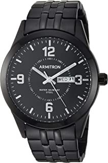Armitron Men's 20/5362BKTI Day/Date Function Black Bracelet Watch