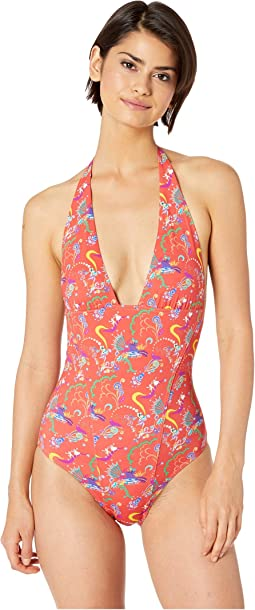 Fairy Print Halter One-Piece