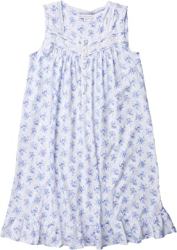 White Ground Blue/Pink Floral