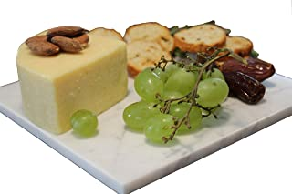 White Marble Cheese Board – Works as a Small cutting board – Premium Trivet/Small pot holder – Effective Shushi serving platter Size 7x7 inch (18x18 cm) by CraftsOfEgypt