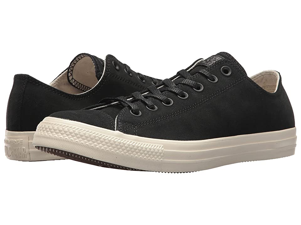 Converse Chuck Taylor All Star Nubuck Ox (Black//Driftwood) Athletic Shoes