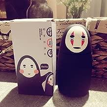 Bamboo's Grocery Studio Ghibli Spirited Away No-Face Water Vacuum Bottle Travel Sport Exercise Mug, 280ML, Black