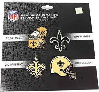 Classic Pins New Orleans Saints Logo/Helmet Evolution Pin Set