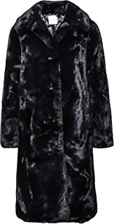 Rino and Pelle Women's Zonna Long Faux Fur Coat Black