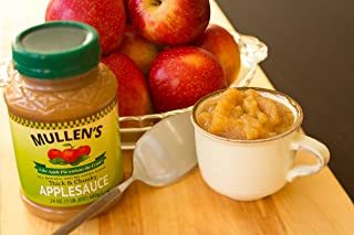 "Mullen's Applesauce ""Like Apple Pie Without the Crust"" Less Sugar Chunky Recipe 24 oz Jars (Case of 12 jars)"