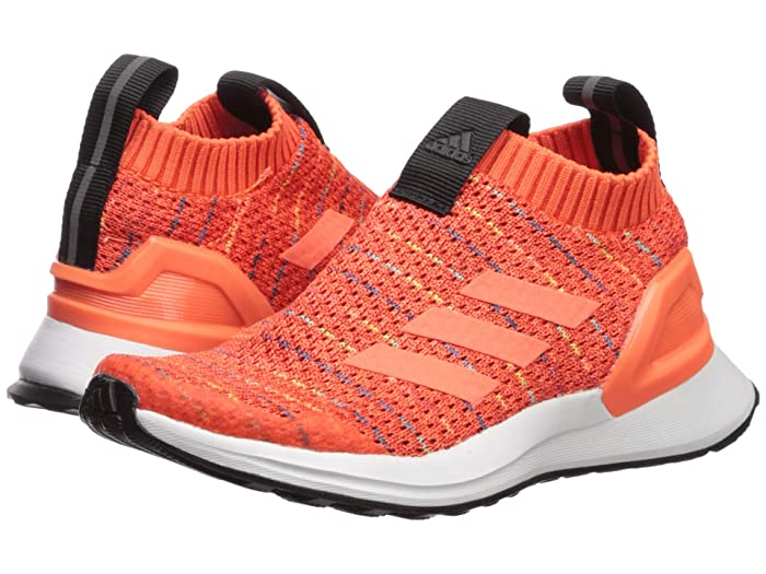 adidas Kids  RapidaRun LL Knit (Little Kid) (Orange/Hi-Res Coral/White) Kids Shoes
