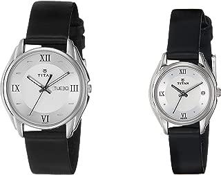 Titan Bandhan Analog Silver Dial Couple's Watch -NJ15782489SL03