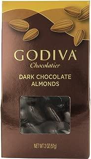 Godiva Dark Chocolate Almonds, 2-ounces (Pack of 5)