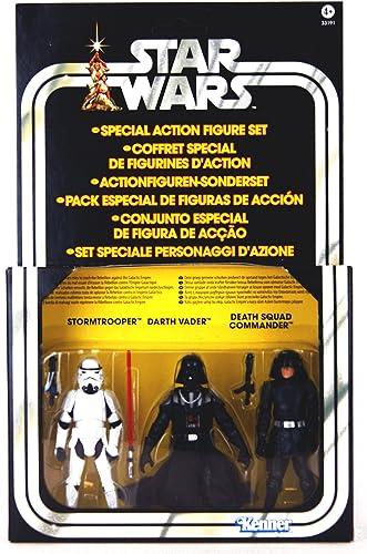 diseño simple y generoso Kenner Star Wars Wars Wars A New Hope Special Exclusive Action Figure 3Pack Villain Set Stormtrooper, Darth Vader, Death Squad Commander by Kenner  venta directa de fábrica