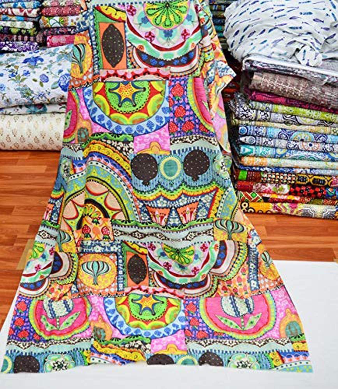 2.5 to 100 yards indian hand block print fabric indian cotton fabric handmade
