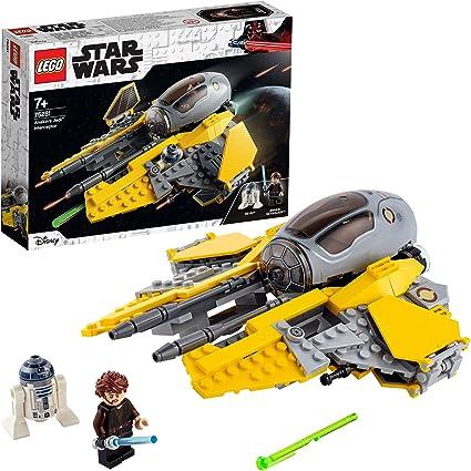 LEGO 75281 Star Wars Interceptor Jedi de Anakin, Juguete de Construcción del Vehículo con Mini Figuras de R2-D2 y Skywalker