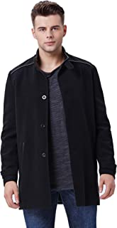 PAUL JONES Mens Winter Wool Blends Stand Collar Coat Windbreaker Outerwear Tops
