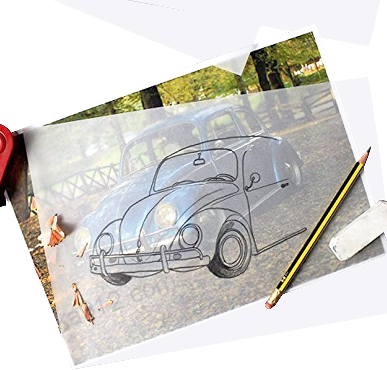 A4 Size Artist's Tracing Paper, 8.3 x 11.5 inch, 100 Sheets-Translucent Sketching and Tracing Paper for Pencil, Marker and Ink, Lightweight