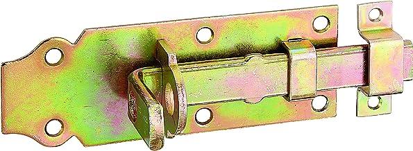 GAH-Alberts 116767 sluitgrendel, recht, met platte greep en bevestigde lus, elektrolytisch geel verzinkt, plaat 120 x 44 mm