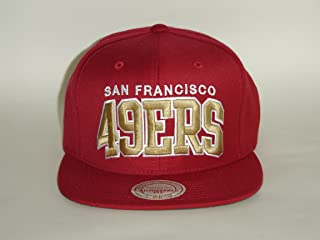 Mitchell and Ness NFL San Fransisco 49ers Arch Red Gold Snapback Cap