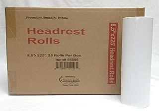 Premium Head Rest Paper Rolls 8.5