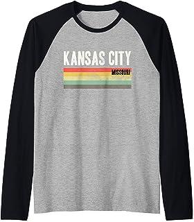 KCMO Kansas City Gift Raglan Baseball Tee