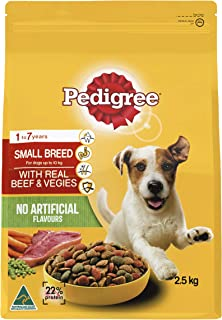 PEDIGREE Small Breed Minced Beef Dry Dog Food 2.5kg Bag 4 Pack