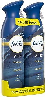 Febreze Air Odor-Eliminating Air Freshener, Ocean, 2 Ct, 8.8 Fl Oz Each (17.6 Fl oz Total)