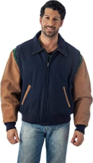 Men's Premium Quality Leather Letterman Varsity Jacket Made in USA