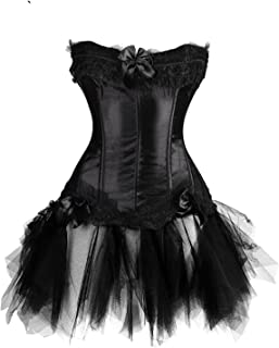 Steampunk Corsets Gothic Waist Trainer Red Black Sexy Dress in Sets